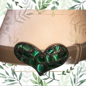 Retro! Gold belt with heart shaped buckle